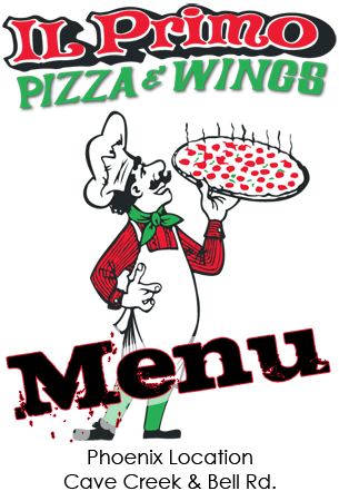Il Primo Pizza & Wings Menu